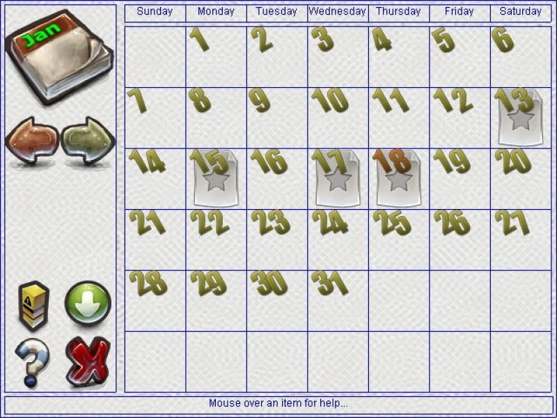 Pantallazo Evans Calendar Reminder