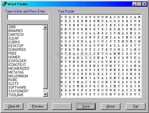 Pantallazo Word Finder