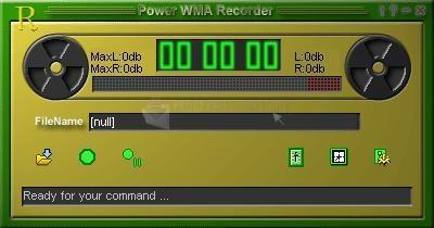 Pantallazo Power WMA Recorder