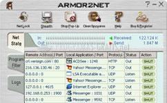 Pantallazo Armor2net Personal Firewall
