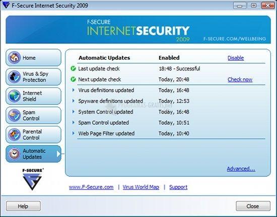Pantallazo F-Secure Internet Security
