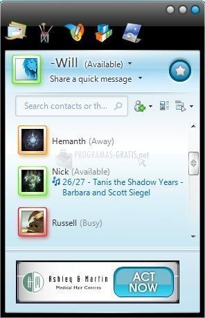 Pantallazo MSN Skin Ev0 White