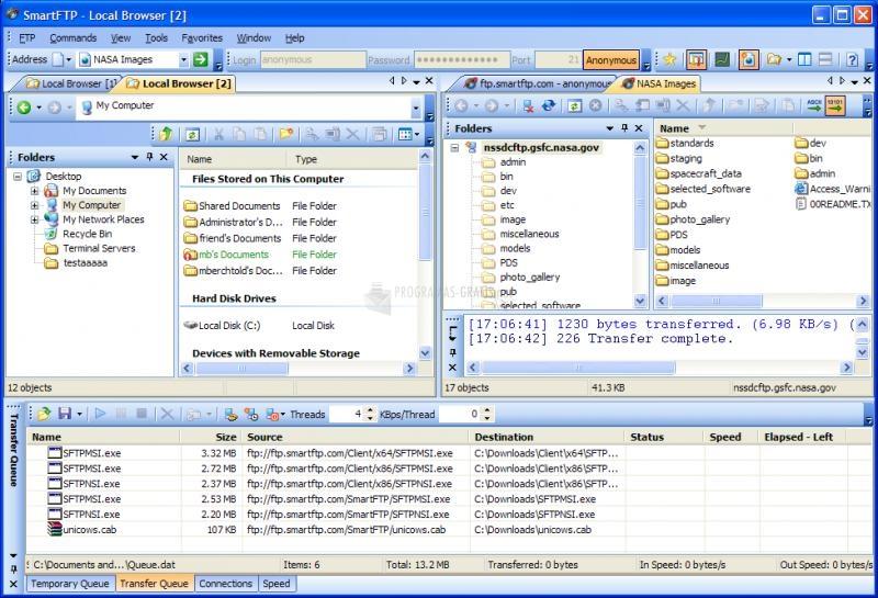 Pantallazo SmartFTP (64 bits)