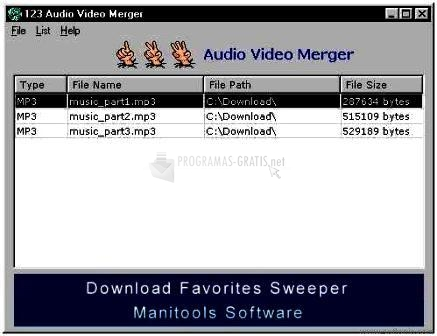 Pantallazo 123 Audio Video Merger