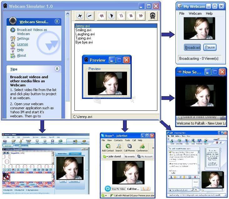 Pantallazo Webcam Simulator XP Edition