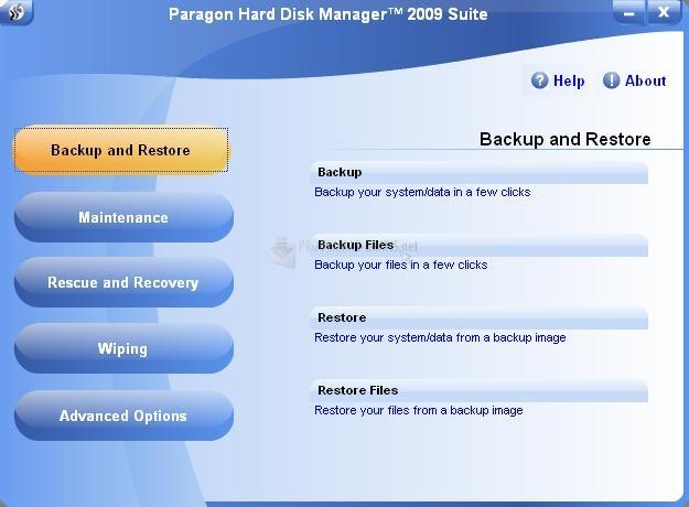 Pantallazo Paragon Hard Disk Manager Suite