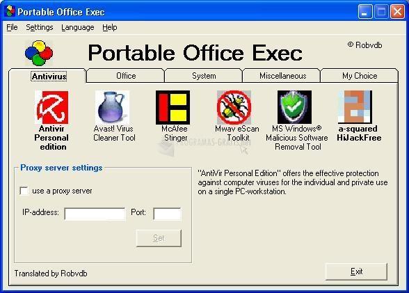 Pantallazo Portable Office Exec