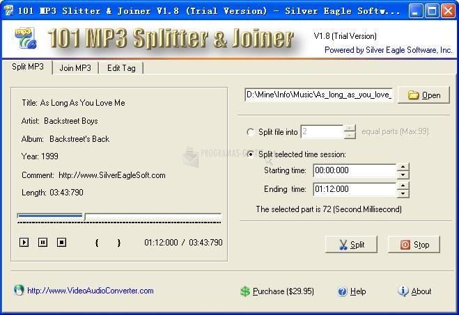Pantallazo 101 MP3 Splitter