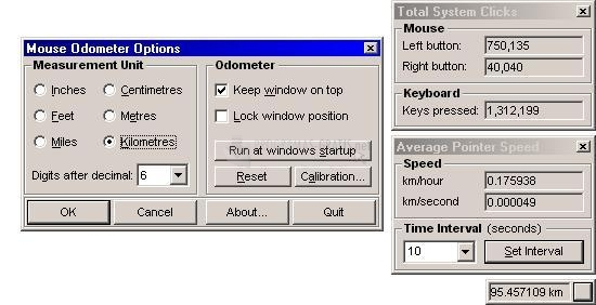 Pantallazo Mouse Odometer