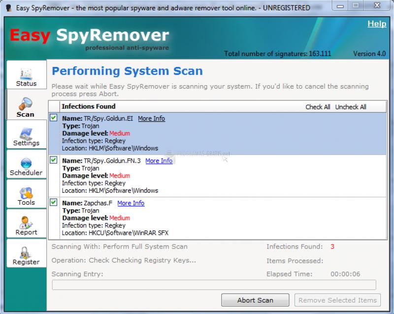 Pantallazo Easy Spyware Remover