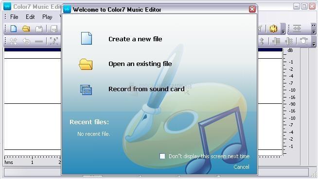 Pantallazo Color7 Music Editor