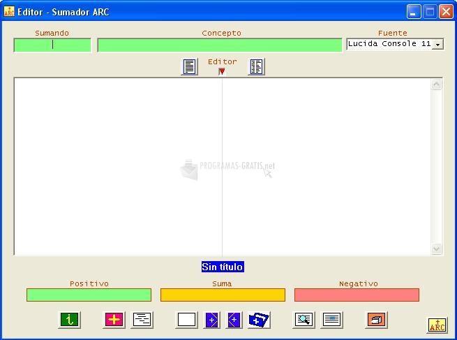 Pantallazo Editor Sumador ARC
