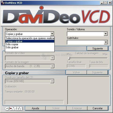 Pantallazo DaVideo VCD