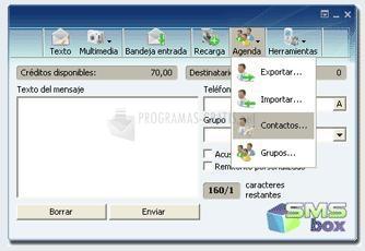 Pantallazo SMSBox