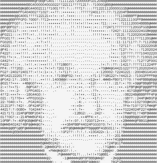 Pantallazo BG ASCII