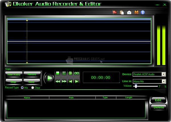 Pantallazo Okoker Audio Recorder & Editor
