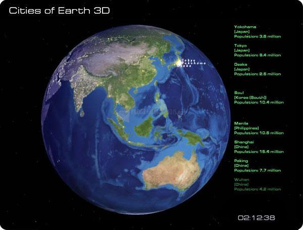 Pantallazo Cities of Earth Free 3D Screensaver