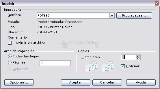 Pantallazo PDF995