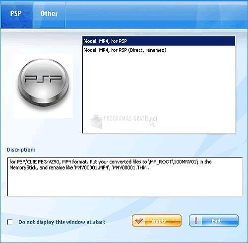 Pantallazo Magic PSP Video Converter