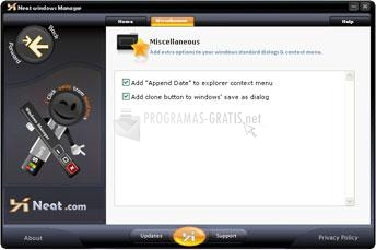 Pantallazo XNeat Windows Manager Lite