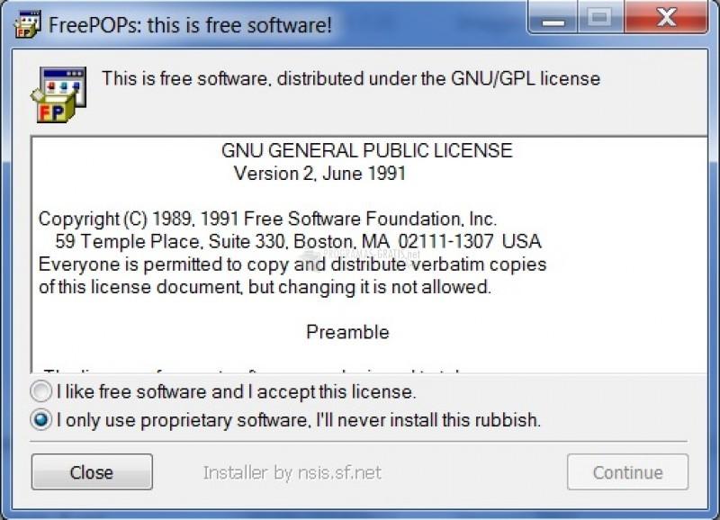 Pantallazo FreePOPs for Windows