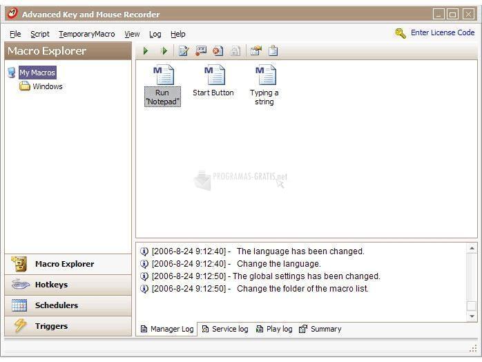 Pantallazo Advanced Key and Mouse Recorder