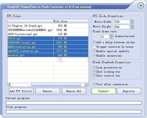 Pantallazo VeryDoc PowerPoint to Flash Converter