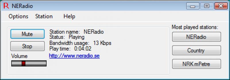 Pantallazo Radio Stream Player
