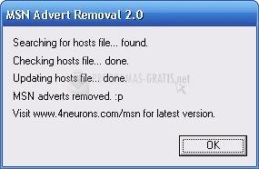 Pantallazo MSN Advert Removal