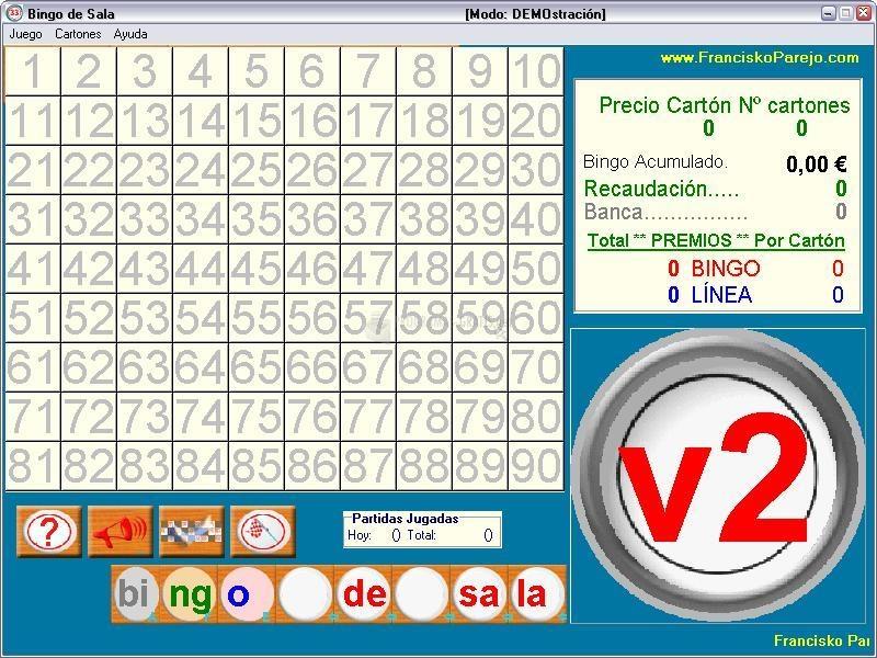Pantallazo Bingo de Sala