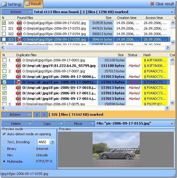Pantallazo Duplicate File Detector
