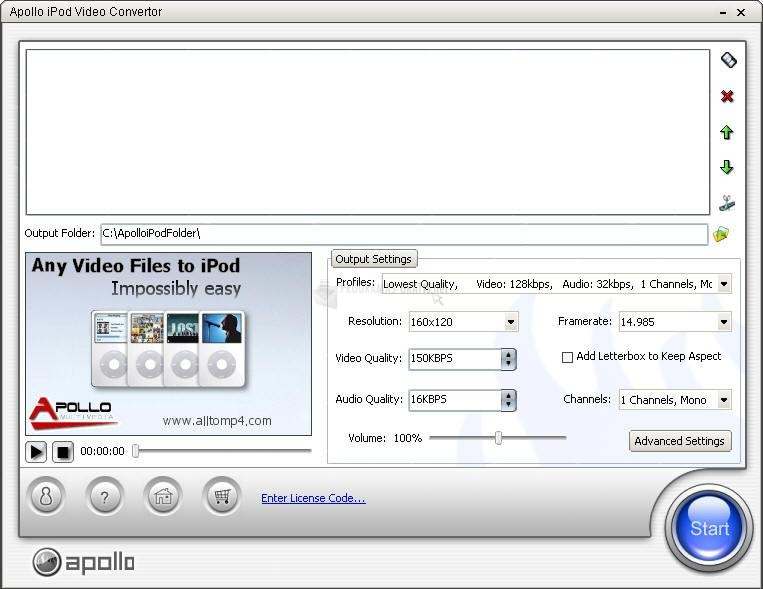 Pantallazo Apollo iPod Video Converter