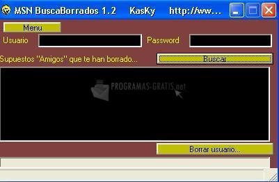 Pantallazo MSN Buscaborrados
