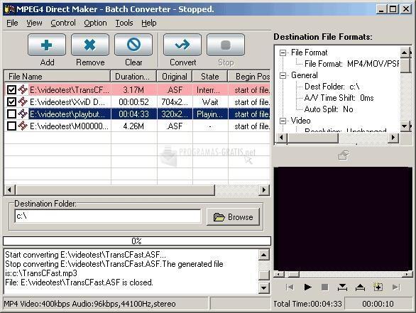 Pantallazo MPEG4 Direct Maker