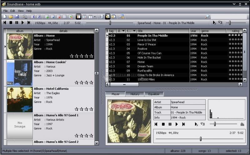 Pantallazo SoundBase