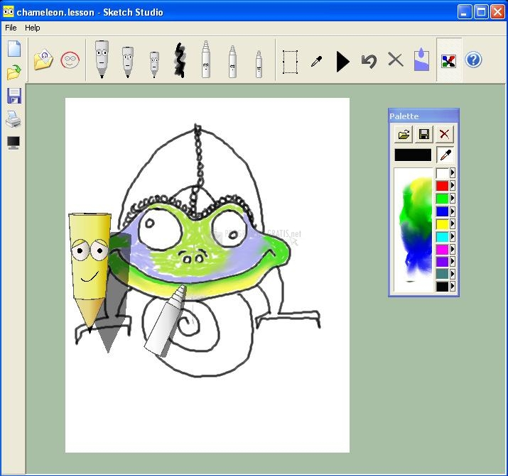 Pantallazo Sketch Studio Drawing