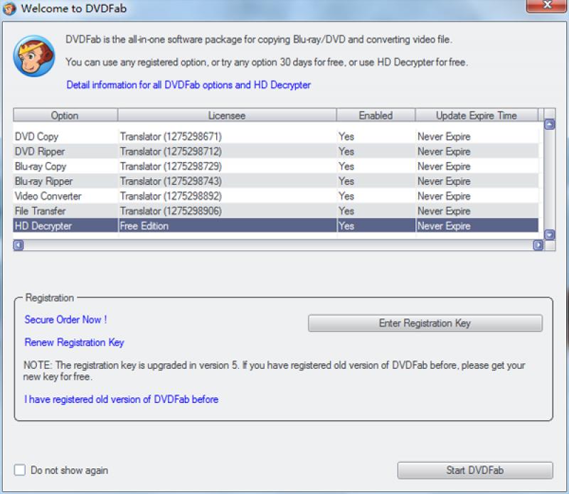 Pantallazo DVDFab HD Decrypter