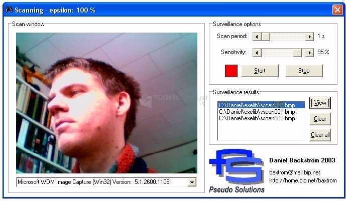 Pantallazo Surveillance Scan II