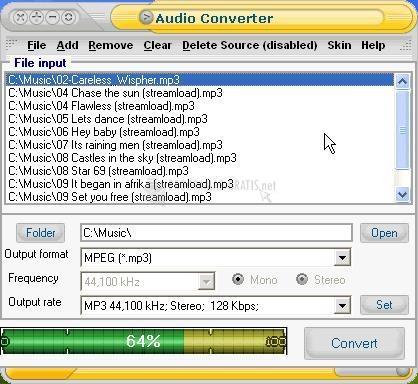 Pantallazo EXPStudio Audio Converter