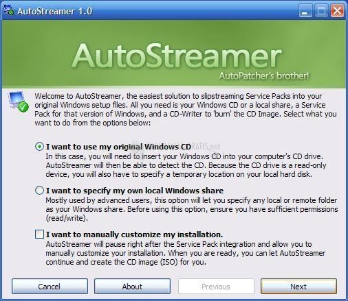 Pantallazo AutoStreamer