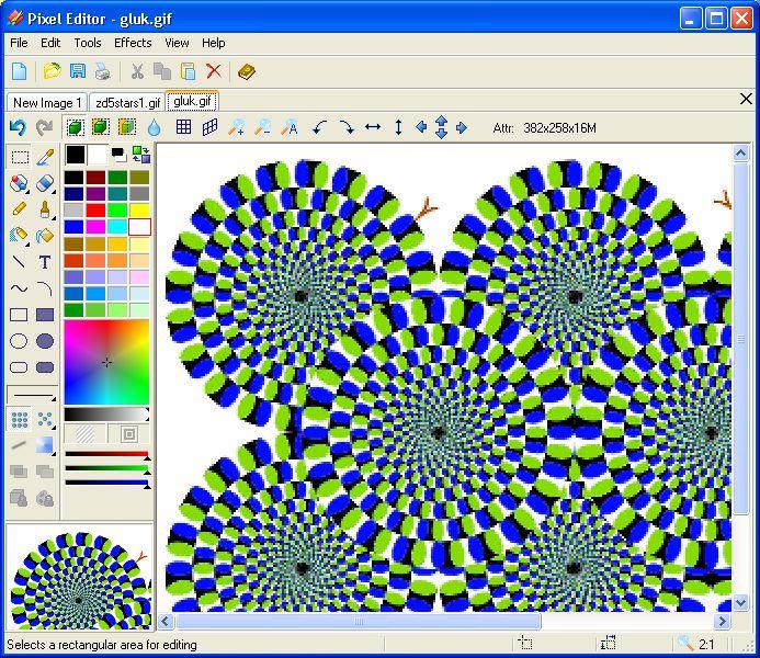 Pantallazo Pixel Editor