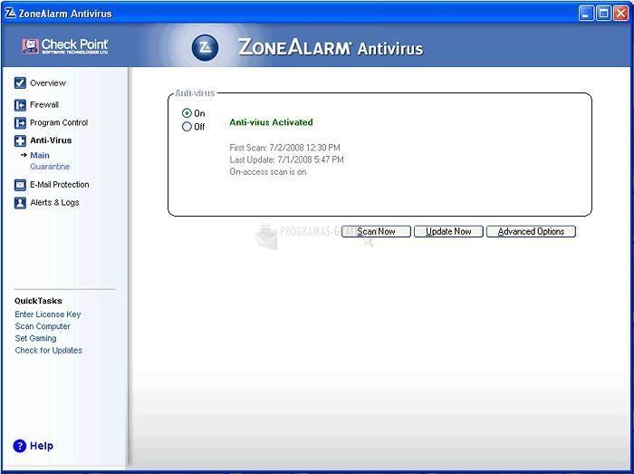 Captura ZoneAlarm Antivirus (English)