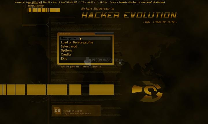 Pantallazo Hacker Evolution