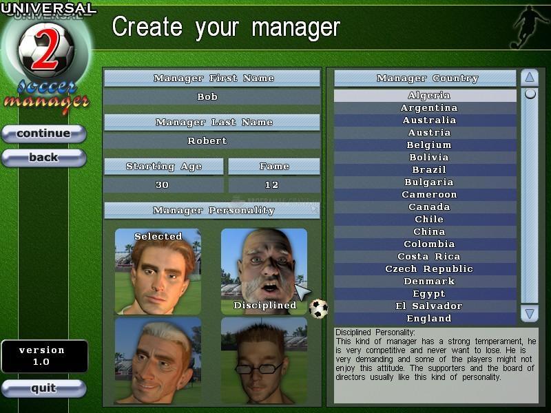 Pantallazo Universal Soccer Manager 2