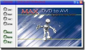 Pantallazo DVD to AVI Converter