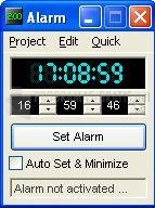 Pantallazo Bluefive Alarm