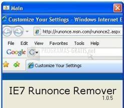Pantallazo IE7 Runonce Remover