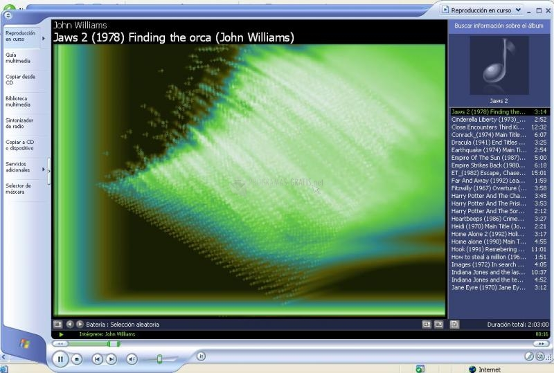 Pantallazo WMA Codecs
