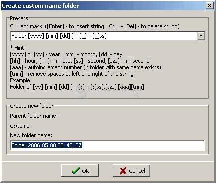 Pantallazo Custom Folder