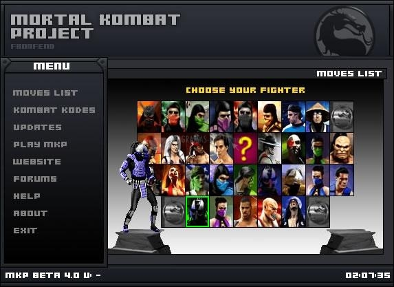 Pantallazo Mortal Kombat Project